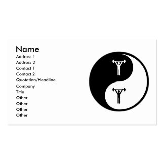 Yin Yang Athletic Training Business Card Template