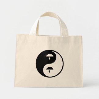 Yin Yang Atmospheric Sciences Canvas Bags