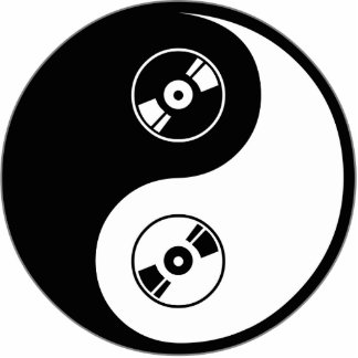 Yin Yang Audio and Video Photo Sculpture Decoration