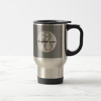 yin yang australian terrier stainless steel travel mug