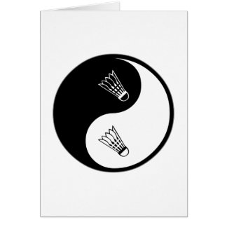 Yin Yang Badminton Card
