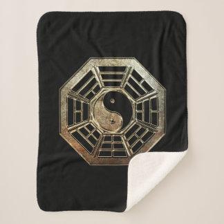 Yin Yang Bagua Small Sherpa Fleece Blanket