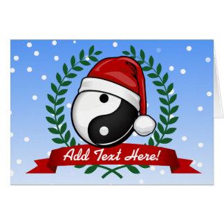 Yin Yang Balance Christmas Style Card