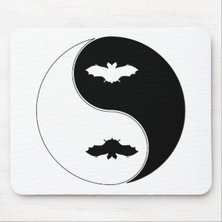 Yin Yang Bat Mouse Pad