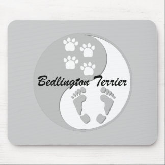 yin yang Bedlington Terrier Mouse Pad