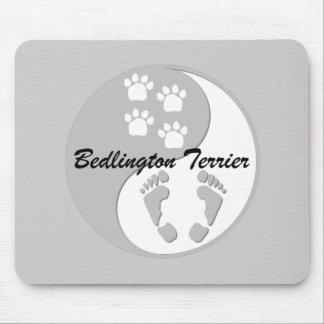 yin yang Bedlington Terrier Mouse Pads