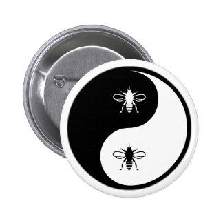 Yin Yang Bee 6 Cm Round Badge