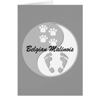 yin yang Belgian Malinois Card
