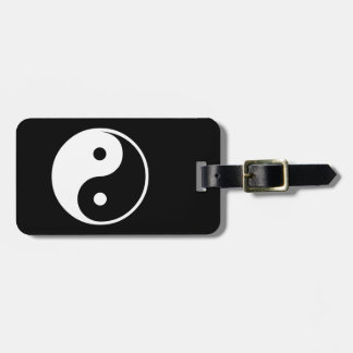 Yin Yang Black and White Illustration Template Bag Tag