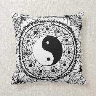 Yin & Yang Black Cushion