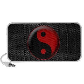 YIN YANG BLACK RED 3D PC SPEAKERS