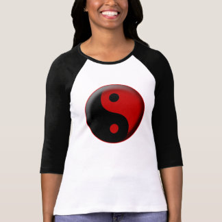 YIN YANG BLACK RED 3D T-Shirt