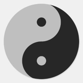 Yin Yang - black Round Sticker