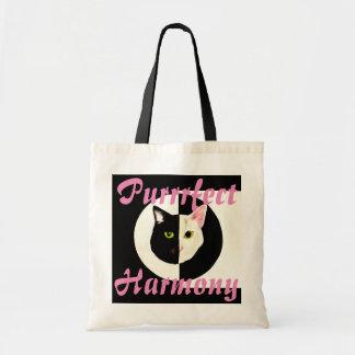 Yin yang black white cat perfect harmony