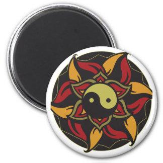 Yin Yang Blooming Lotus Magnet