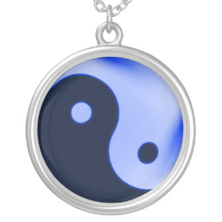 Yin yang blue necklace