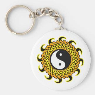 Yin Yang Braided Sun Key Ring