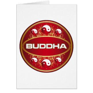 Yin Yang Buddha Round Logo Card