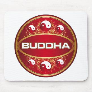 Yin Yang Buddha Round Logo Mouse Pad