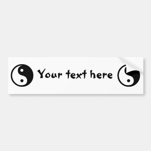 Yin Yang Bumper Stickers
