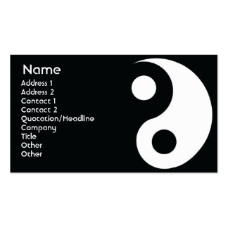 Yin Yang - Business Pack Of Standard Business Cards
