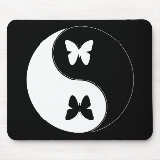 Yin Yang Butterfly Mouse Pad