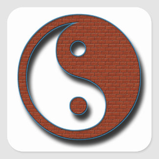 Yin Yang by Shirley Taylor Square Sticker
