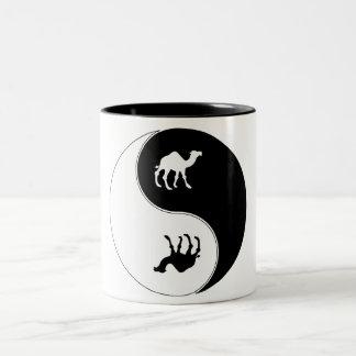Yin Yang Camel Two-Tone Coffee Mug
