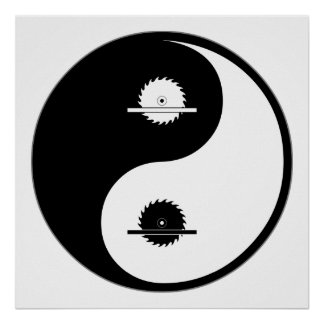 Yin Yang Carpentry Poster