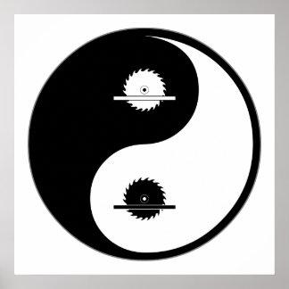 Yin Yang Carpentry Poster