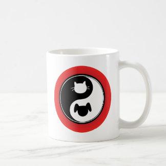 Yin Yang Cat Dog Coffee Mug