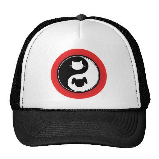 Yin Yang Cat Dog Mesh Hat