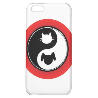 Yin Yang Cat Dog iPhone 5C Case