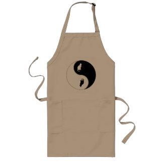 Yin Yang Cat Long Apron