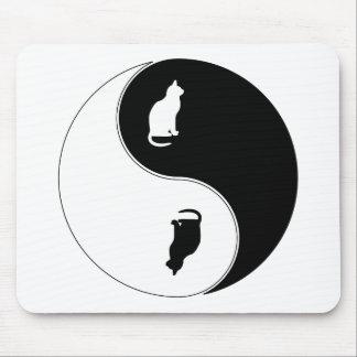 Yin Yang Cat Mouse Pad