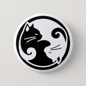 Yin Yang Cats 6 Cm Round Badge