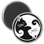 Yin Yang Cats 6 Cm Round Magnet