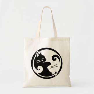 Yin Yang Cats Budget Tote Bag
