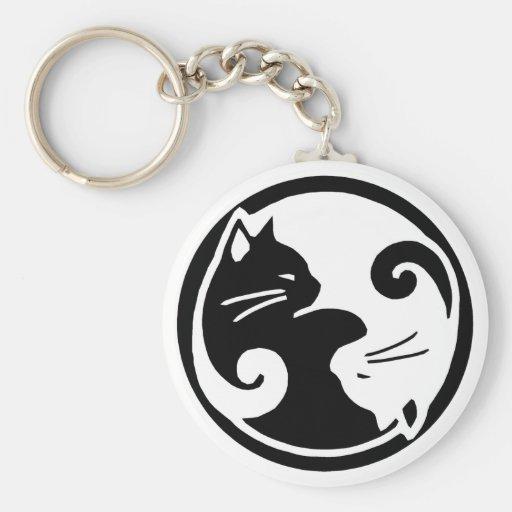 Yin Yang Cats Key Chain