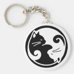 Yin Yang Cats Keychain