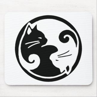 Yin Yang Cats Mouse Pad