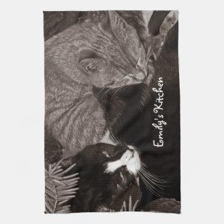 Yin Yang Cats Tea Towels