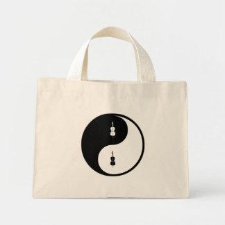 Yin Yang Cello Tote Bags