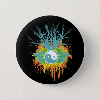Yin Yang Chaos 6 Cm Round Badge