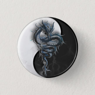 Yin Yang Chinese Dragon Badge