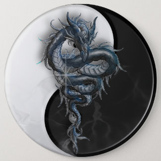 Yin Yang Chinese Dragon Colossal 6 Inch Badge