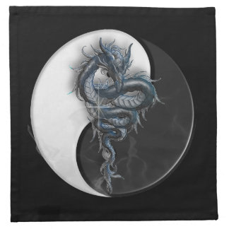Yin Yang Chinese Dragon Napkin