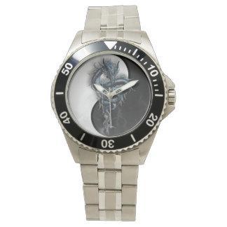Yin Yang Chinese Dragon Stainless Steeel Watch