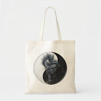 Yin Yang Chinese Dragon Tote Bag