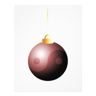 Yin Yang Christmas Ball in Red Full Color Flyer